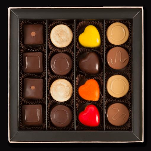 pralin çikolata küçük kutu içerik