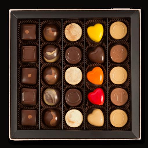 pralin çikolata orta boy içerik