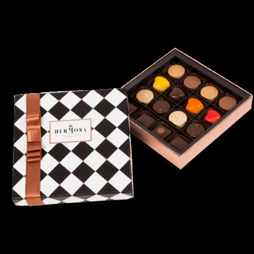 Hediyelik Karışık Pralin Çikolata Kutusu Küçük Boy